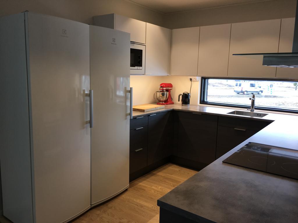 Tumman vaalea keittiö